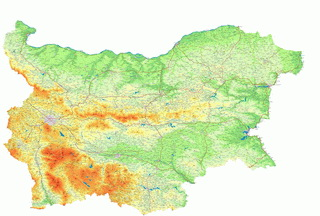 Географска карта на България